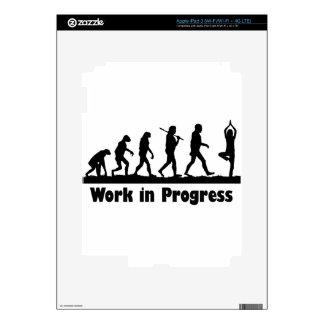 Work in Progress (Yoga) Skins For iPad 3