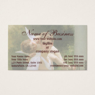Work Interrupted by William Adolphe Bouguereau Business Card