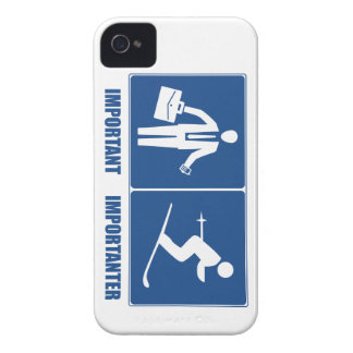 Work Is Important, Skiing Is Importanter iPhone 4 Cover