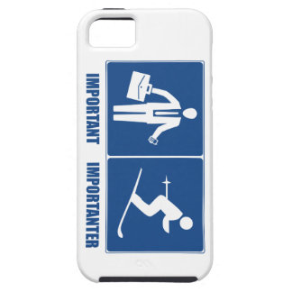 Work Is Important, Skiing Is Importanter iPhone SE/5/5s Case