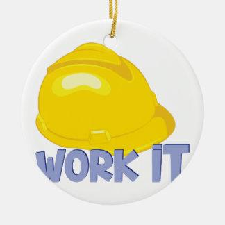Work It Ceramic Ornament