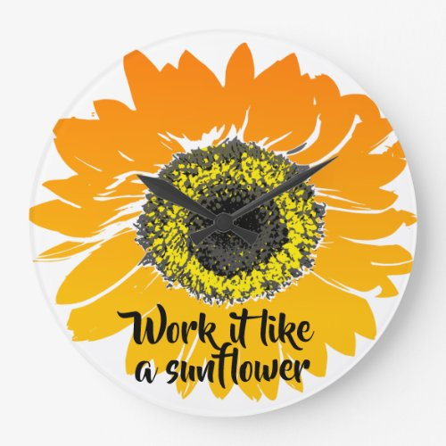 Work it like a sunflower large clock
