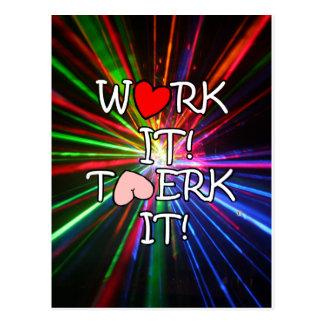 Work It Twerk It Post Card