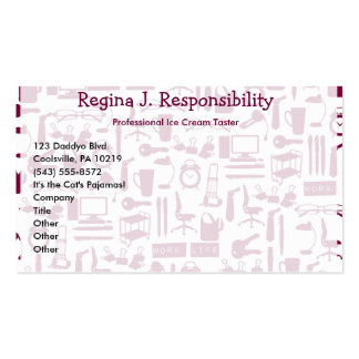 Work Life! Business Card Template