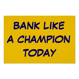 Work Like a Champion Poster