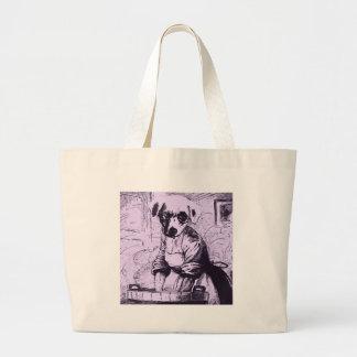 Work like a dog canvas bags
