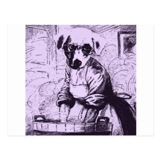 Work like a dog postcard