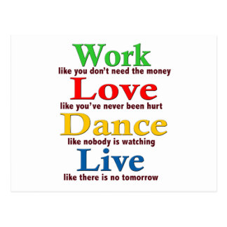 Work, Love Dance, Live Postcard