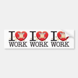 Work Love Man Bumper Sticker