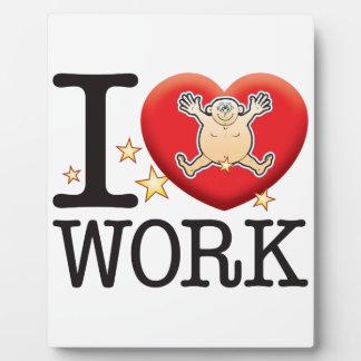 Work Love Man Plaque