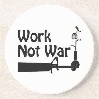 Work Not War Sandstone Coaster