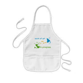 Work of Art in Progress for Adult and Child Kids' Apron