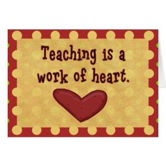 Work of Heart Teacher Thank You Card