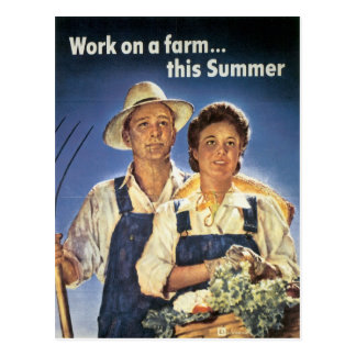 Work on a Farm...This Summer Postcard
