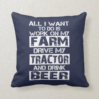Work on my farm throw pillow