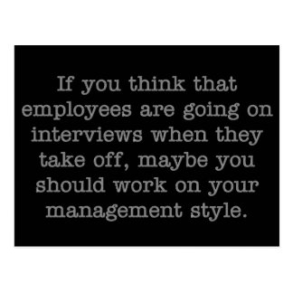 Work on Your Management Style Postcard