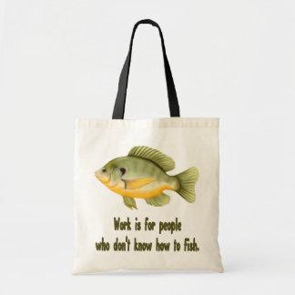 Work or Fish Tote Bags
