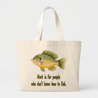 Work or Fish Large Tote Bag