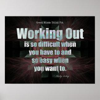 Work Out Attitude! Print