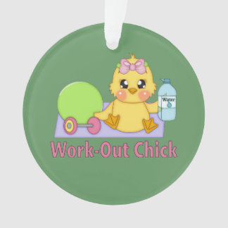 Work-Out Chick Ornament