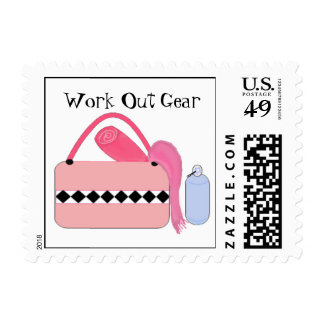 Work Out Gear Postage Stamps