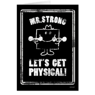 Work Out With Mr. Strong Card
