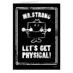 Work Out With Mr. Strong Greeting Card