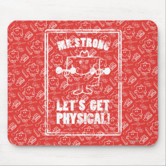 Work Out With Mr. Strong Mouse Pad