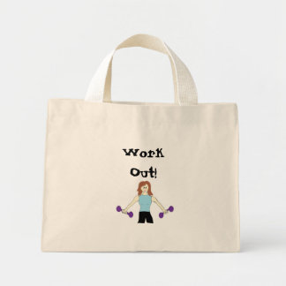 Work Out With Weights Mini Tote Bag