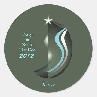 Work Party (change words) Classic Round Sticker