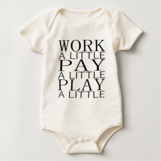 Work Pay Play Rompers