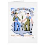 Work Pays America 1939 WPA Card