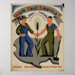 Work Pays America 1939 WPA Vintage Poster