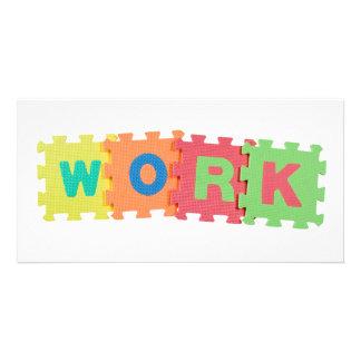 Work Photo Card Template
