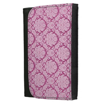 USA Themed Work-Play-Pink berry-Damask-Stylish-Wallet's Leather Wallet For Women
