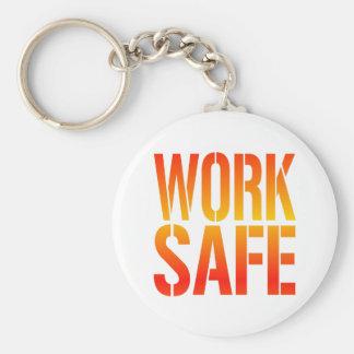 Work Safe Basic Round Button Keychain