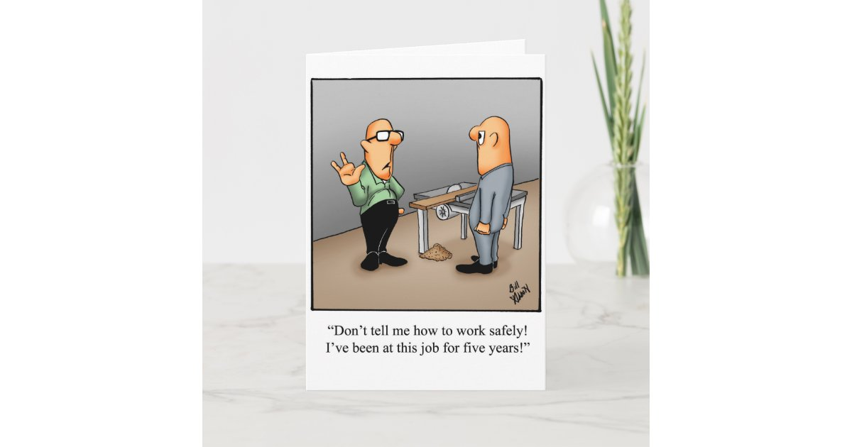 Work safety greeting card humor blank zazzle m4hsunfo