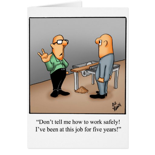 Work Safety Greeting Card Humor Blank   Zazzle