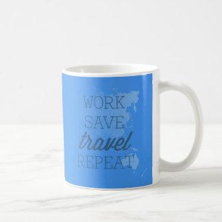 Work Save Travel Repeat Coffee Mug