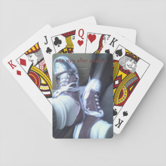 work shoe playing cards