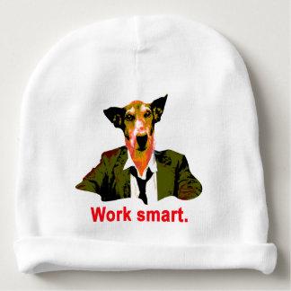 Work smart baby beanie