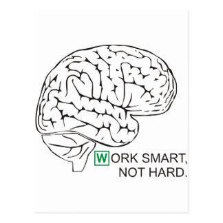 Work smart, not hard postcard
