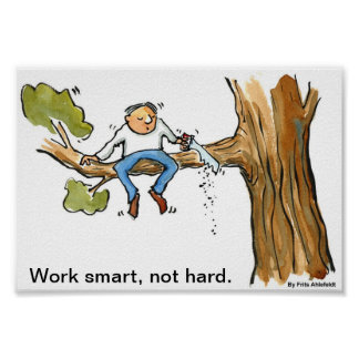 Work Smart, Not Hard Poster