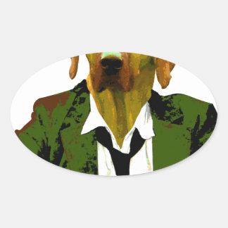 Work smart oval sticker