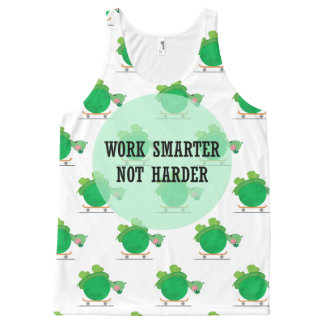 Work smarter, not harder All-Over-Print tank top