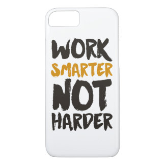 Work Smarter Not Harder Custom Background Color iPhone 8/7 Case