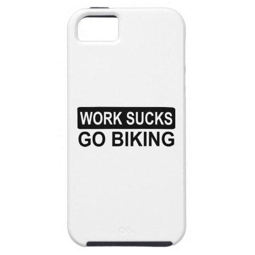 work sucks go biking iPhone 5 Case-Mate protectores