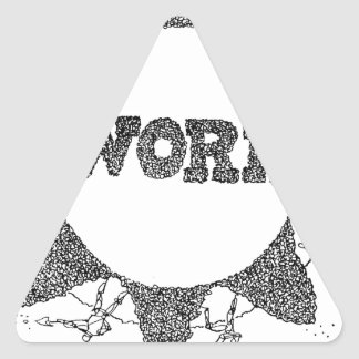 WORK: The Vicious Cycle Triangle Sticker
