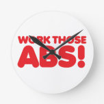 Work those ABS Wall Clock