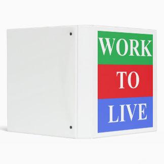 Work-To-Live White EZ-Turn™ Ring Binder